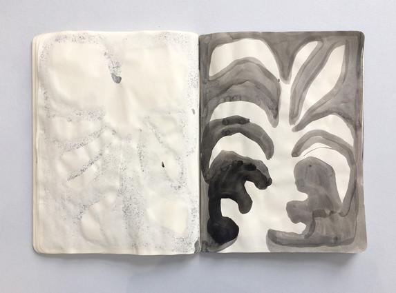 Ink Drawing - Sketchbook page by Jo Blaker