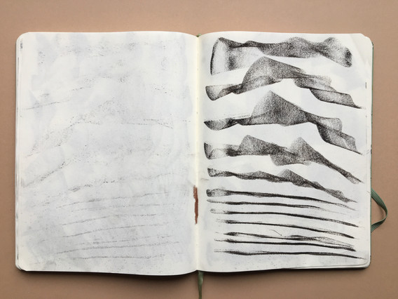 Pastel Sketchbook Drawing by Jo Blaker