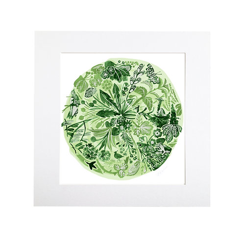 'Green Time' Collection Prints
