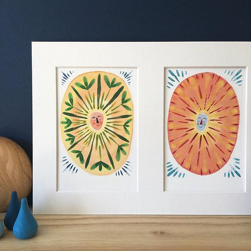 Lumins Triptych Print