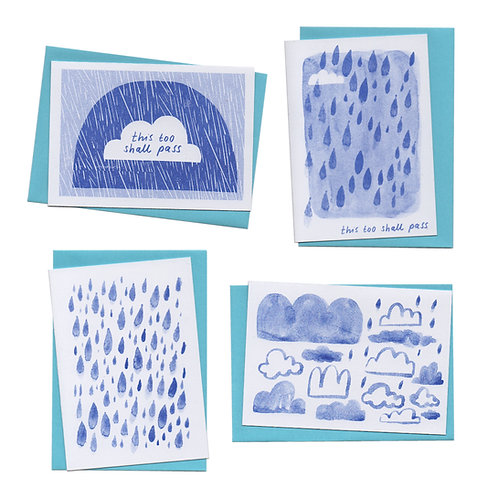 Set of Mindful Cloud Cards