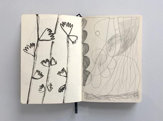 Pencil & Pen Sketchbook Drawings by Jo Blaker