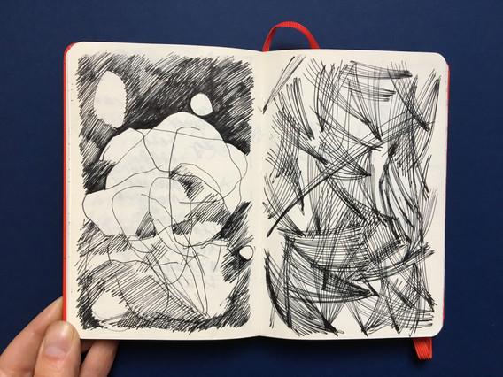 Pen Drawing - Sketchbook page by Jo Blaker