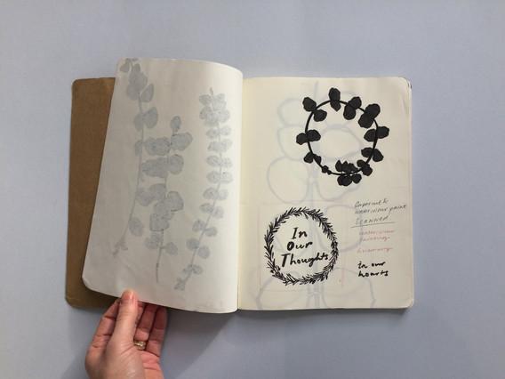 Greetings Illustration Sketch in Sketchbook by Jo Blaker