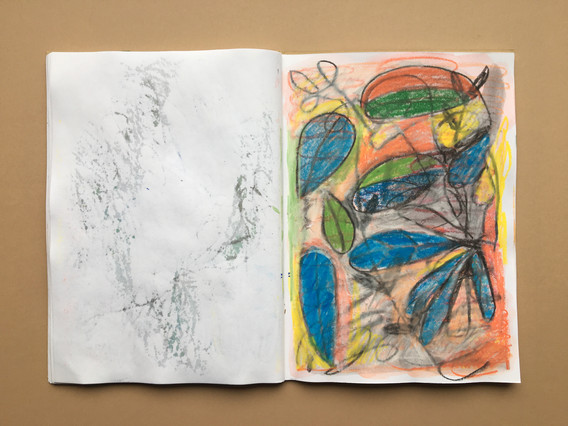 Mixed Media Sketchbook Drawing by Jo Blaker
