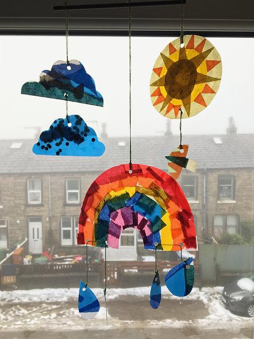 Craft Kit - Rainbow Mobile