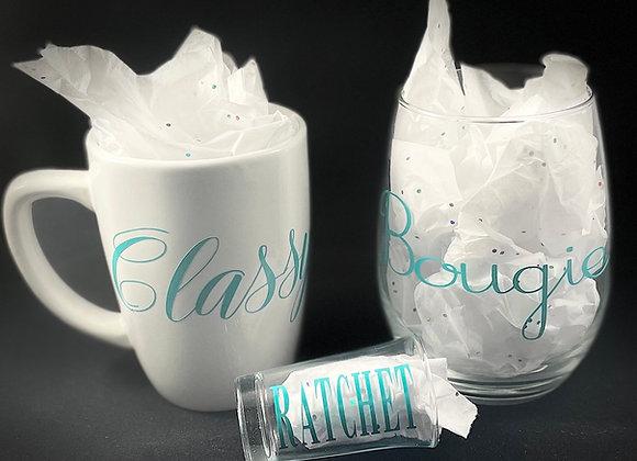 Classy, Bougie, Ratchet Glass Set