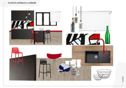 Planche ambiance mobilier cuisine