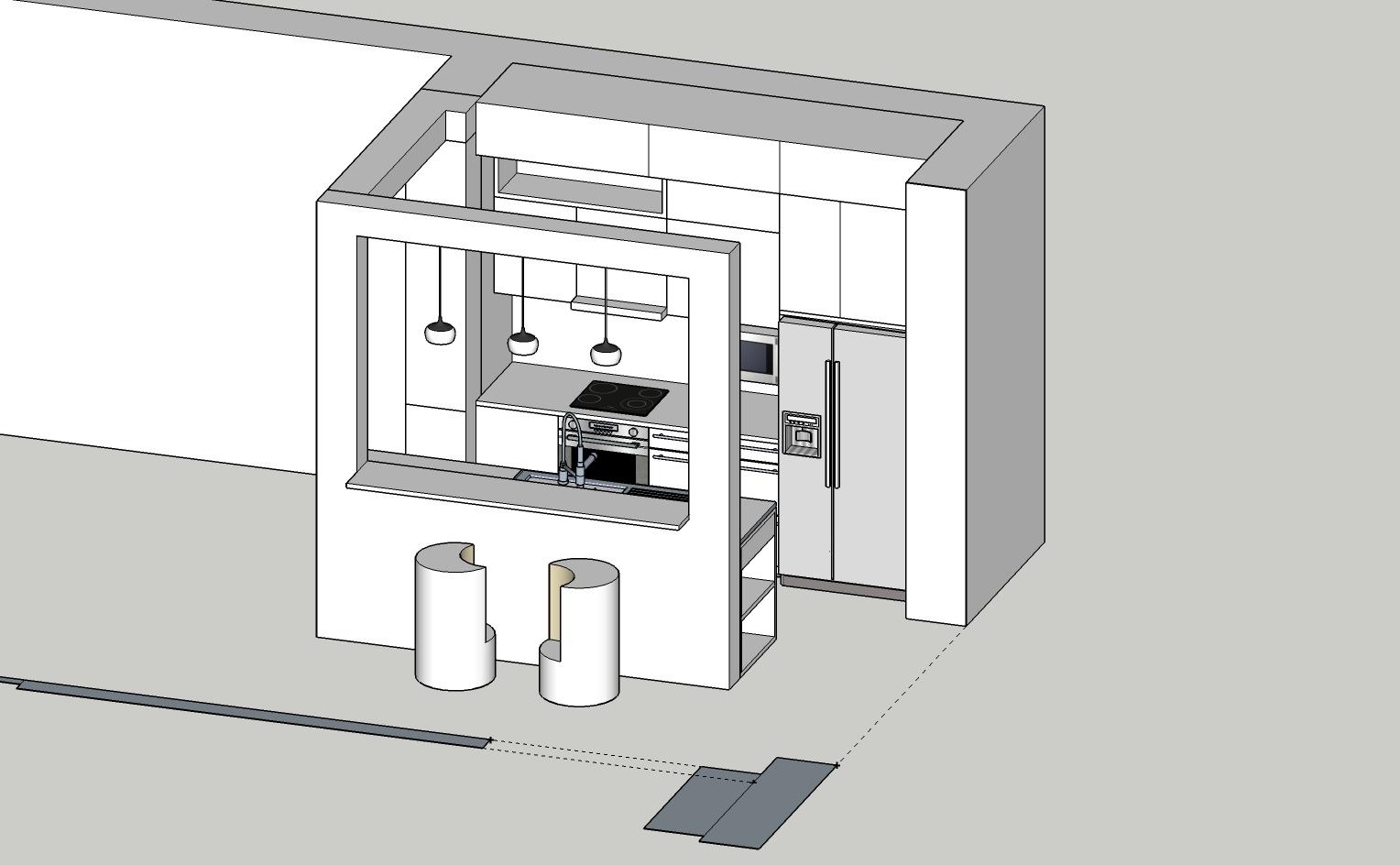 Concept cuisine 3D N&B