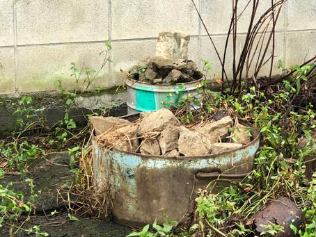 ブロック コンクリート 石 お庭のお掃除 栃木市