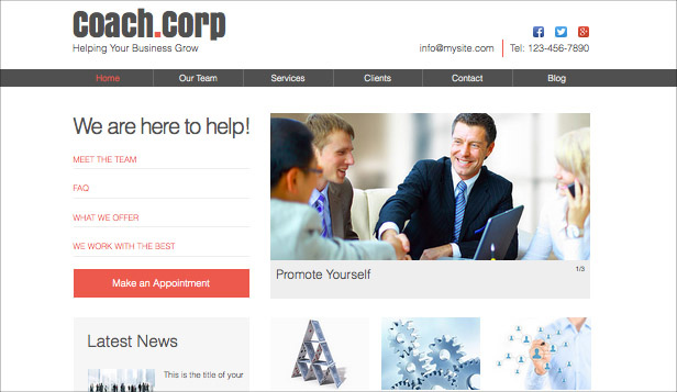 Consulting og coaching website templates –  Forretningscoaching