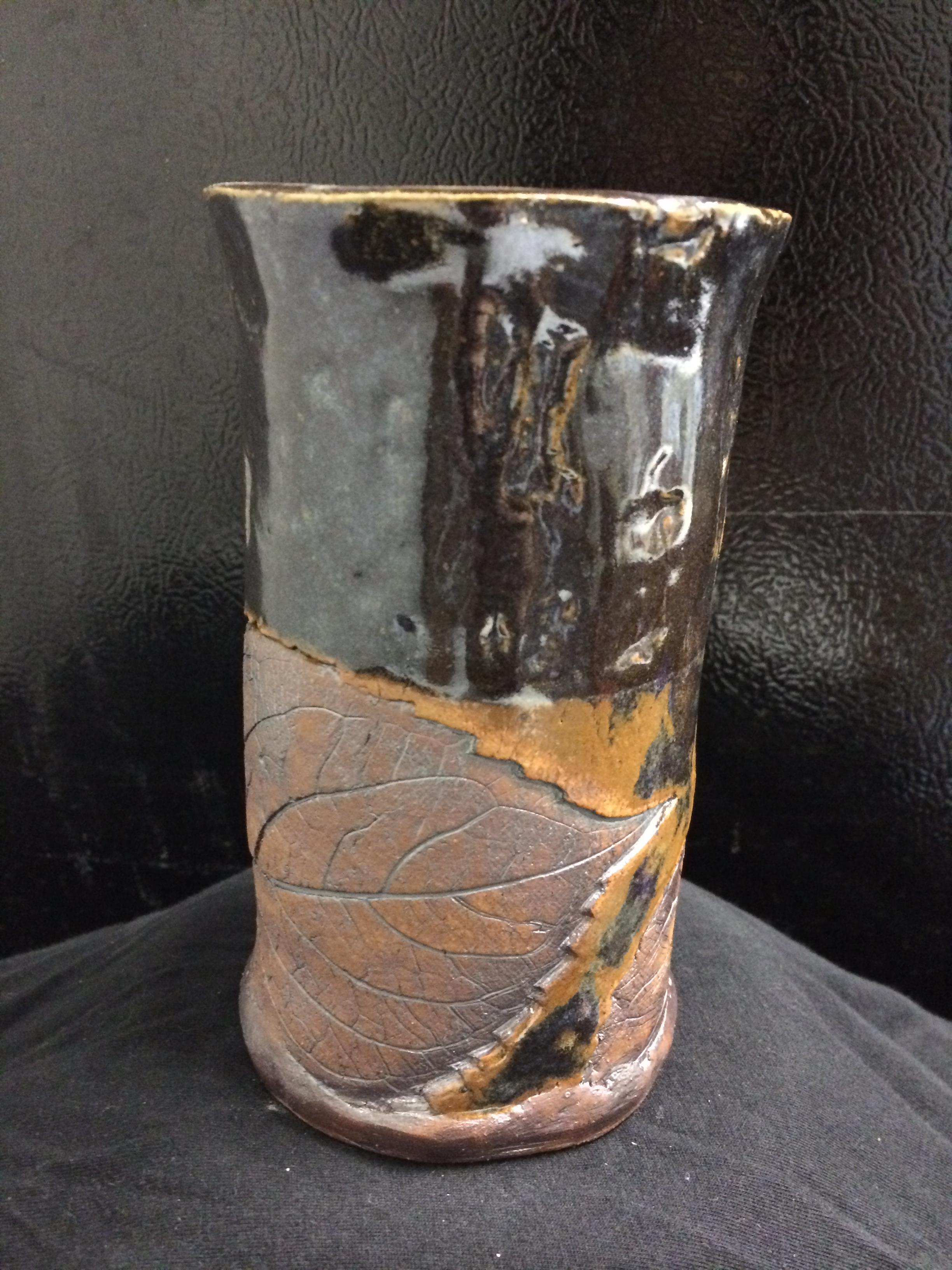 Hydrangea leaf vase