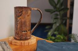 wheat mug in use