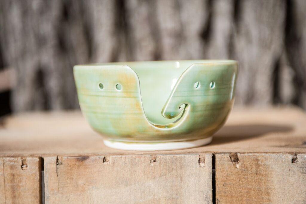 Yarn Bowl - celadon - SOLD