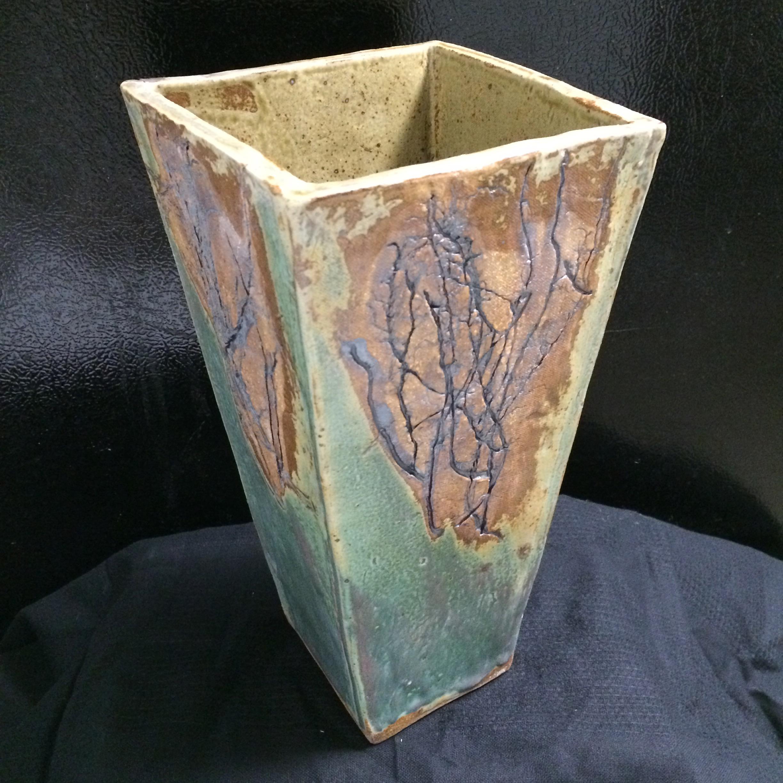 Iris Roots - Vase - Iron/turquiose