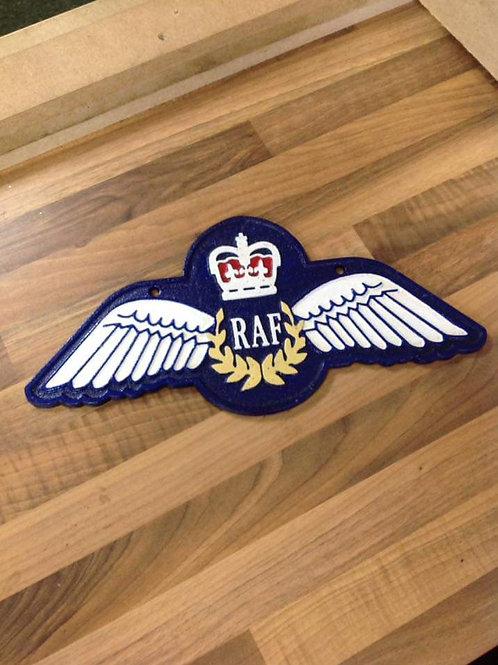 RAF Wings Plaque