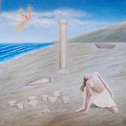 L'Araba Fenice, olio su tela 100x100