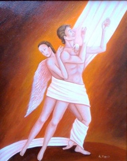 Verso la Luce, olio su tela 50x60