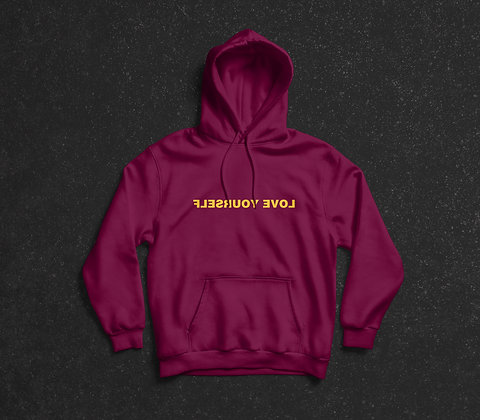 CMU - Love Yourself Hoodie (Maroon x Gold)