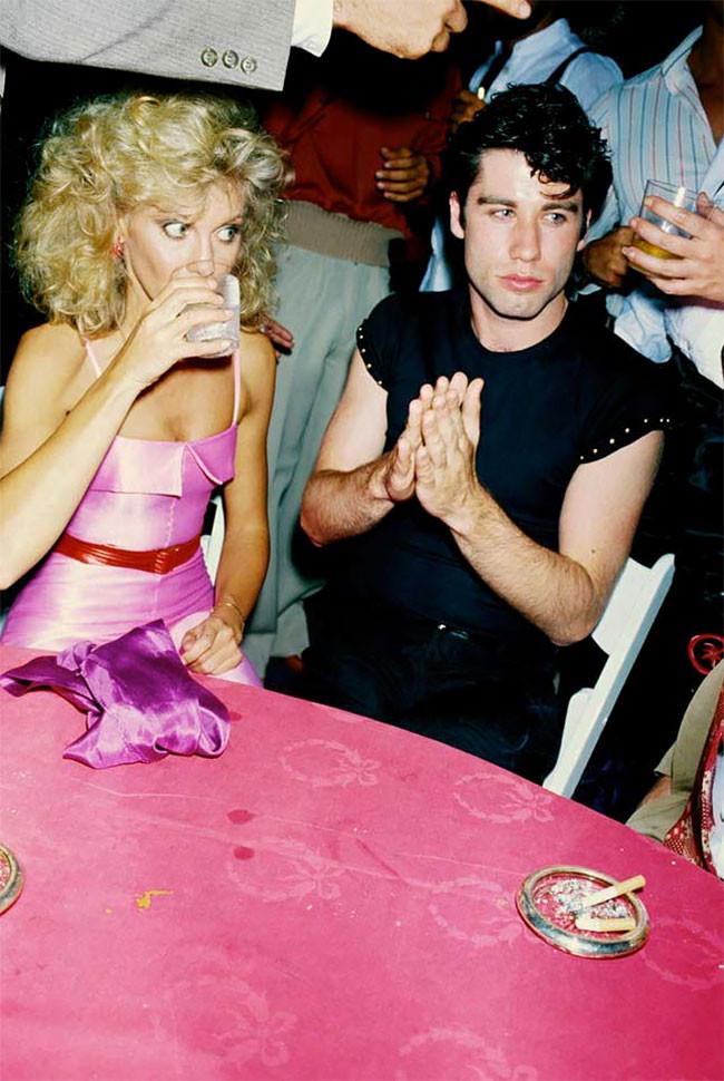 Olivia Newton John and John Travolta at the Grease premiere party, 1978