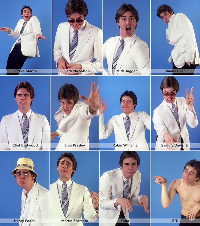 Jim Carrey impersonating celebrities