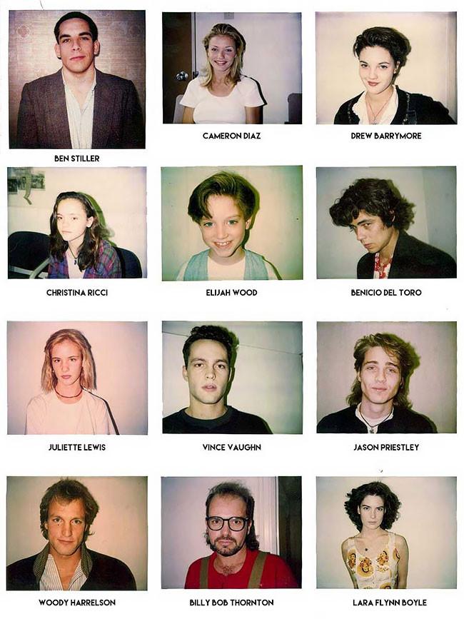 Audition polaroids taken by casting director Mali Finn