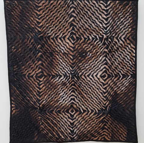 Tim Harding:  Visage #2 Silk and Linen 49h x 45w x 2d inches $7000
