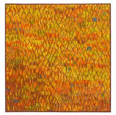 "Tim Harding:  Naranja II  Deconstructed silk  39"" x 39"" $3,200"