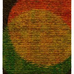 "Tim Harding Venn Diagram Yellow Deconstructed silk 46""h x 39""w $4600"