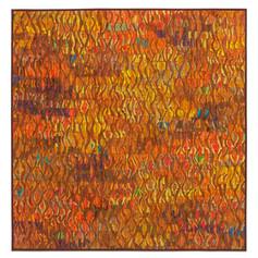 "Tim Harding:  Naranja III Deconstructed silk  39"" x 39"" $3,200"
