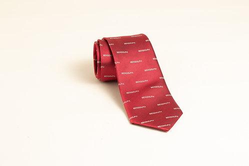 BENDOLPH red silk tie
