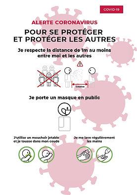 Poster Covid-19, Prévention COVID-19,
