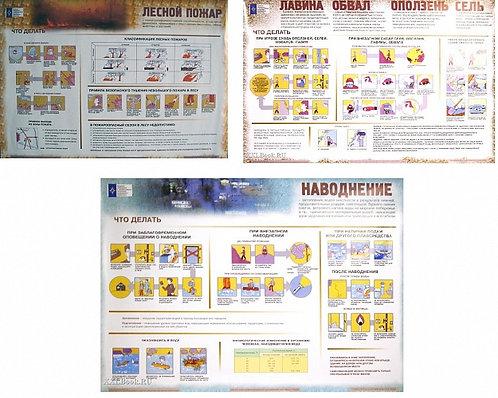 Плакаты Правила поведения в ЧС природного характера 700*1000 5шт