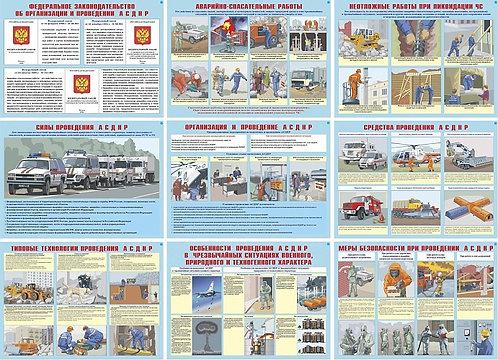 Плакаты Аварийно-спасательные неотложные работы (10 шт. 300*410)