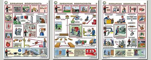 Плакаты Пожарная безопасность 3 шт. (465*610 мм) лам.