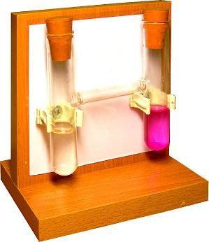 Прибор для демонстрации диффузии в жидкостях и газах  ( с индикатором )