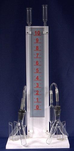 Прибор для иллюстрации зависимости скорости химических реакций от условий