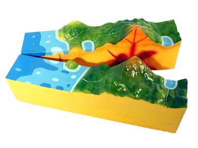 Модель вулкана (разборная)