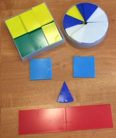 Комплект дробные части круга и квадрата