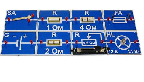 Набор для исследования цепей постоянного тока, Э1‑КЛ (Электричество 1)