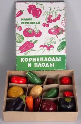 Набор муляжей Корнеплоды и плоды