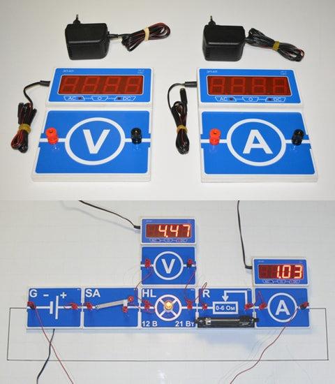 Набор электроизмерительных приборов постоянного и переменного тока, ЭП-КЛ