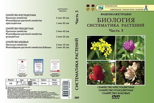 DVD Систематика растений ч.3 (6 фрагментов)