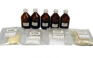 Набор №12 ВС Неорганические вещества для демонстрации опытов ТОЛЬКО ЮРИДИЧЕСКИМ