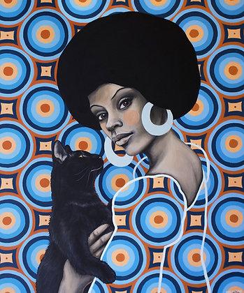 Portrait Of A Catwoman LE Print