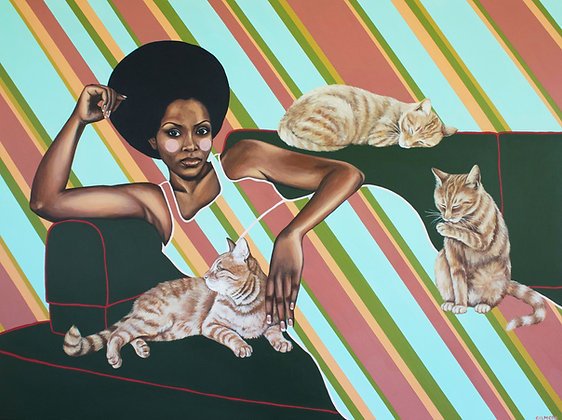 Catwoman In Repose Limited Edition Print