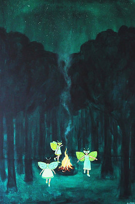 Fireflies Around The Flame