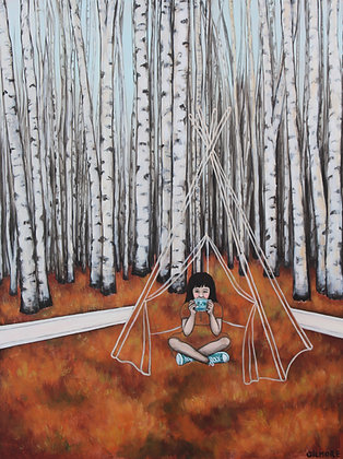 Tea With Tina In A Teepee - Limited Edition Fine Art Print