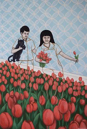 Timmy And Tina Tiptoe Through The Tulips