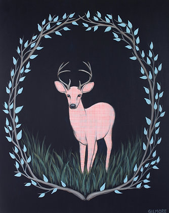 Pink Gingham Stag